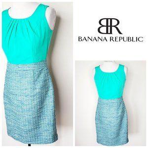 BANANA REPUBLIC Tweed Wool Mint Green Dress
